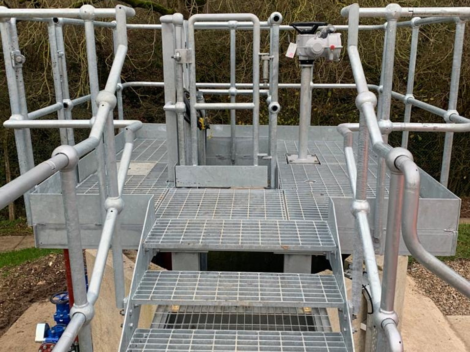 Galvanised access platform